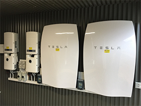 Tesla installation with Solar Edge